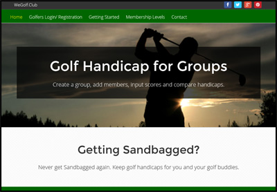 Golf Handicap for groups
