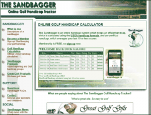 Sandbagger.ca golf handicap tracker