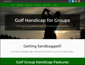wegolf group golf handicap calculator